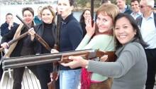 Laser shooting boat charter Sydney
